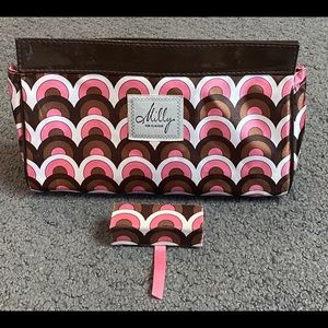Milly for Clinique Pink Brown Circle Cosmetic Bag